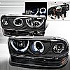2001 Chevrolet S10 Pickup   Black Halo Projector Headlights With Bumper Lights