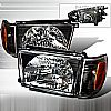 Toyota 4Runner 1999-2002 Black Euro Headlights