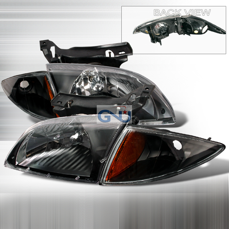 Chevrolet Cavalier 2000-2002 Black Euro Headlights