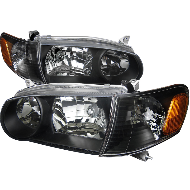 Toyota Corolla 2001-2002 Black Euro Headlights