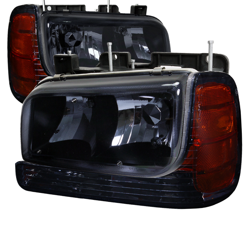 Cadillac Escalade 1999-2000 Smoke Euro Headlights With Corner Lights