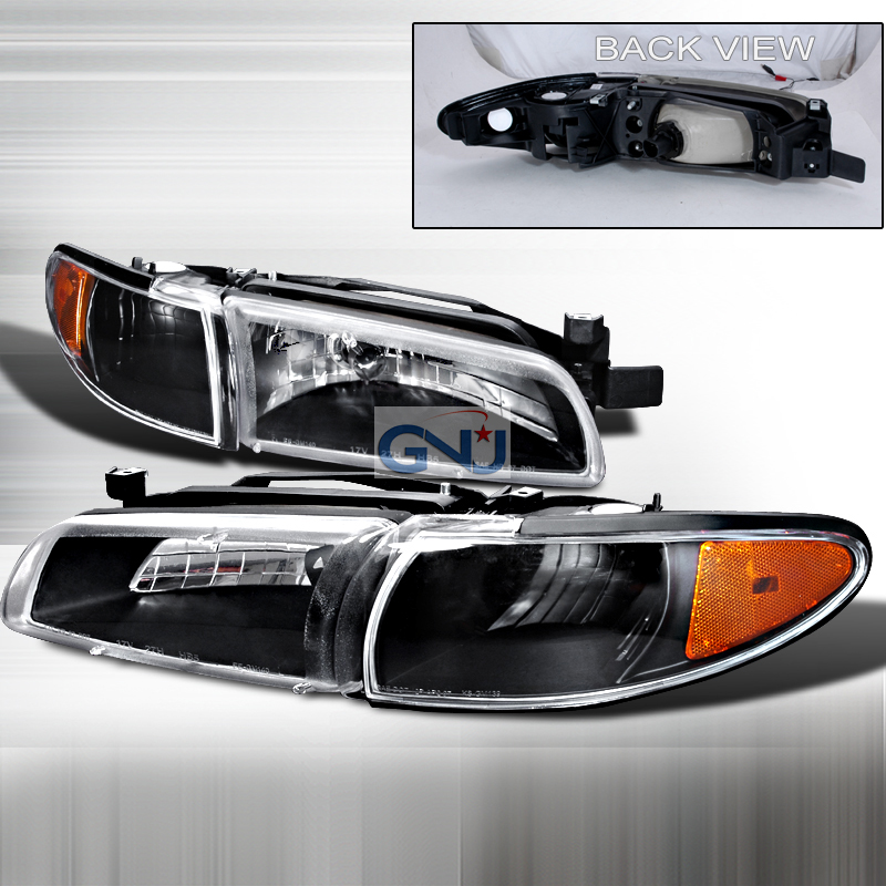Pontiac Grand Prix 1997-2003 Black Euro Headlights