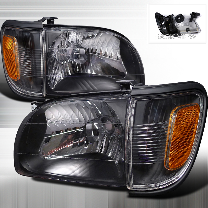 Toyota Tacoma 2001-2004 Black Euro Headlights