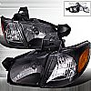 Chevrolet Venture 1997-2005 Black Euro Headlights 1 Piece