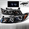 2003 Pontiac Grand Prix   Black Halo Projector Headlights  W/LED'S