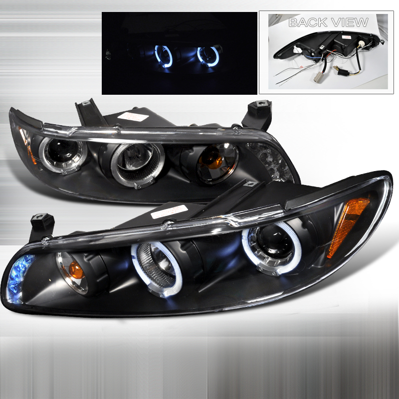 Pontiac Grand Prix  1997-2003 Black Halo Projector Headlights  W/LED'S