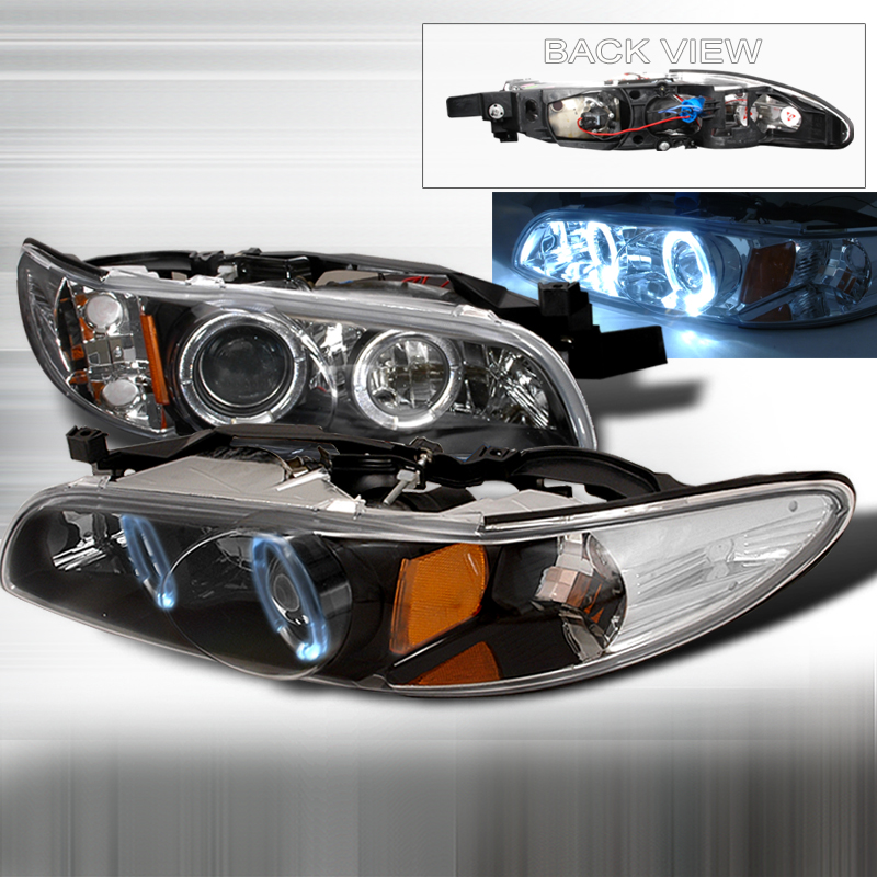 Pontiac Grand Prix 1997-2003 Black Projector Headlights
