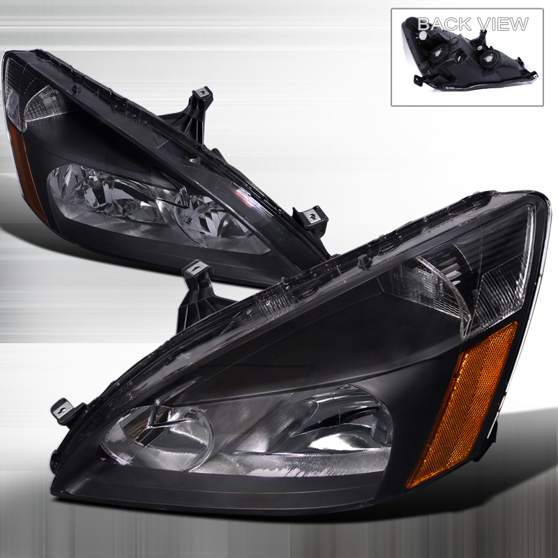 Honda Accord 2003-2007 Black Euro Headlights