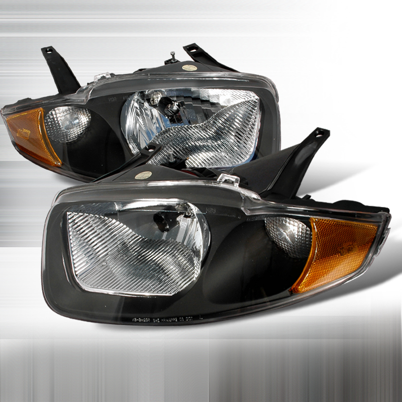 Chevrolet Cavalier 2003-2005 Black Euro Headlights