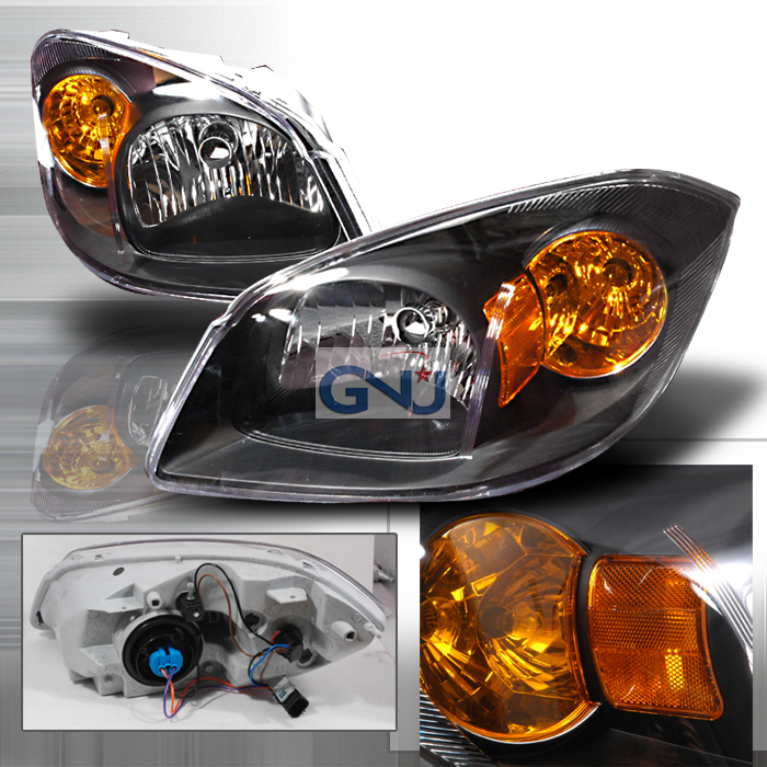 Chevrolet Cobalt 2005-2010 Black Euro Headlights