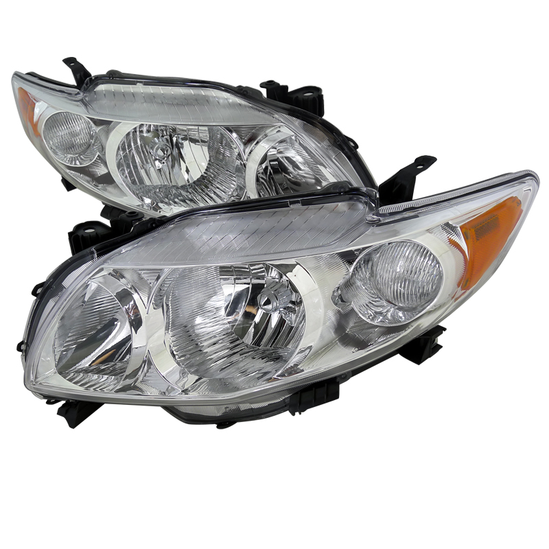 Toyota Corolla 2009-2010 Chrome Euro Headlights