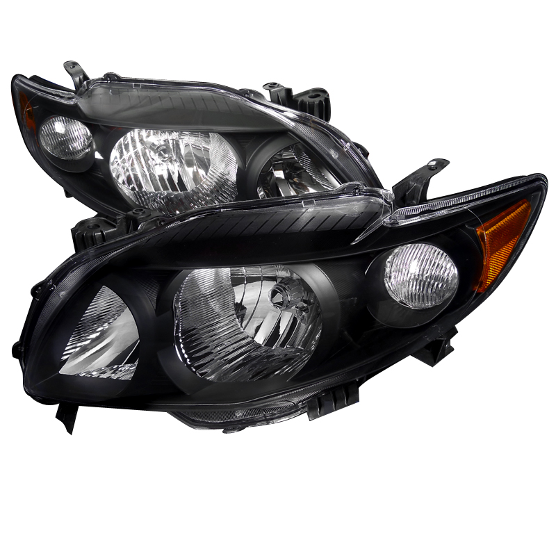 Toyota Corolla 2009-2010 Black Euro Headlights