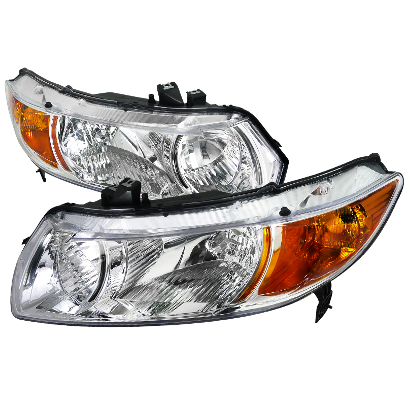 Honda Civic 2006-2010 Chrome Euro Headlights