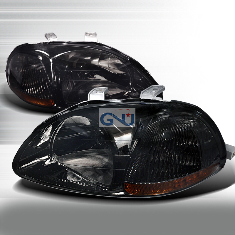 Honda Civic 1996-1998 Smoke Euro Headlights