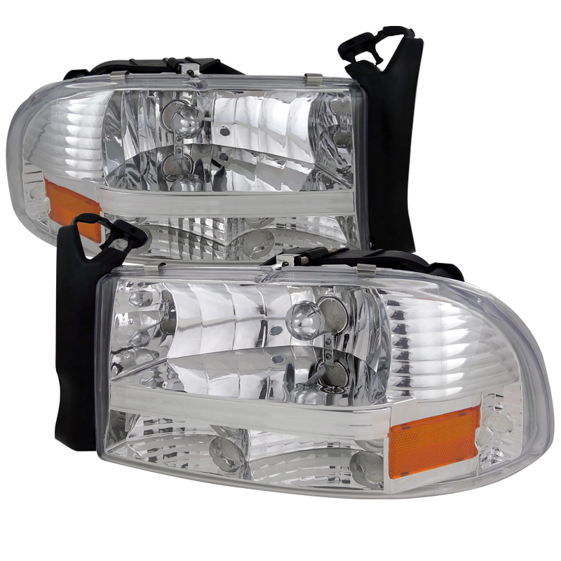 Dodge Durango 1998-2003 Chrome Euro Headlights