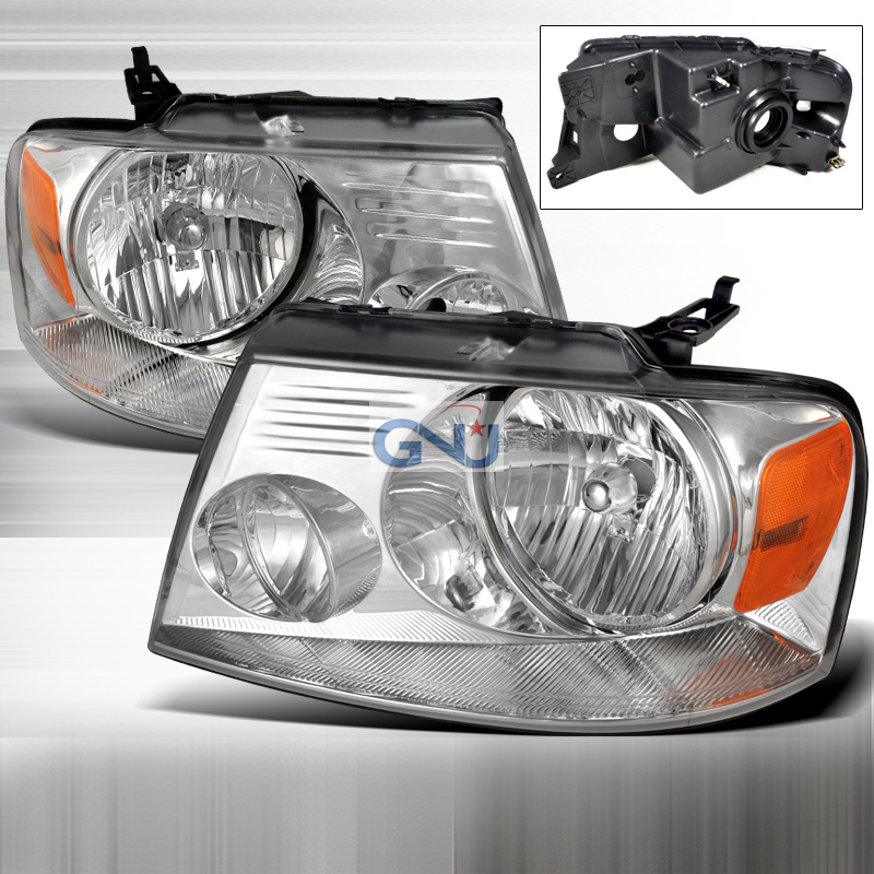 Ford F150 2004-2008 Chrome Euro Headlights