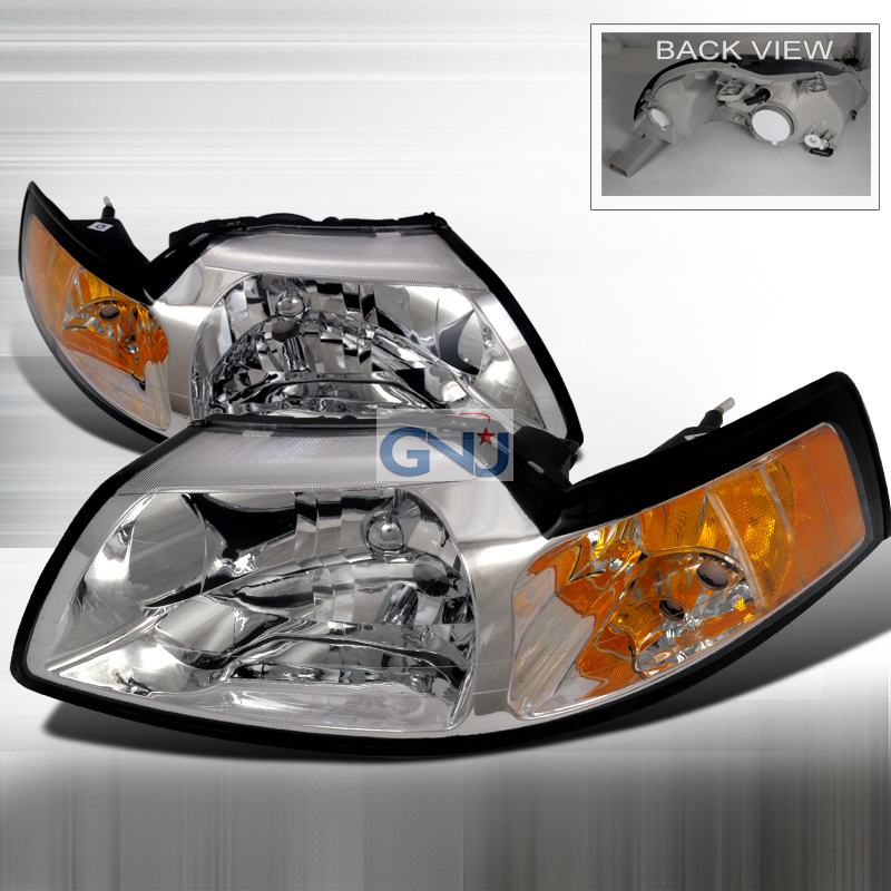 Ford Mustang 1999-2004 Chrome Euro Headlights