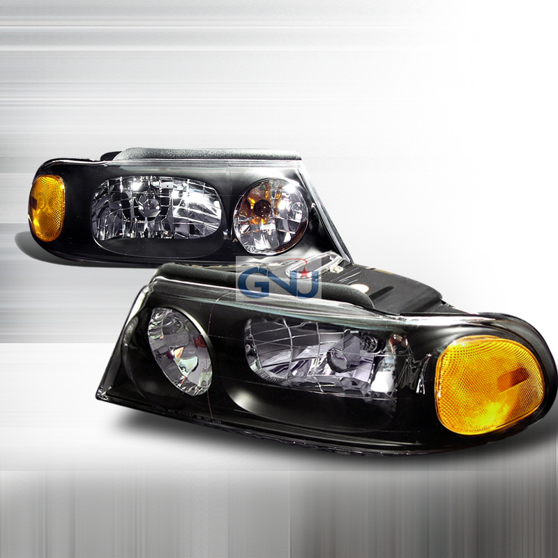 Lincoln Navigator 1998-2002 Black Euro Headlights