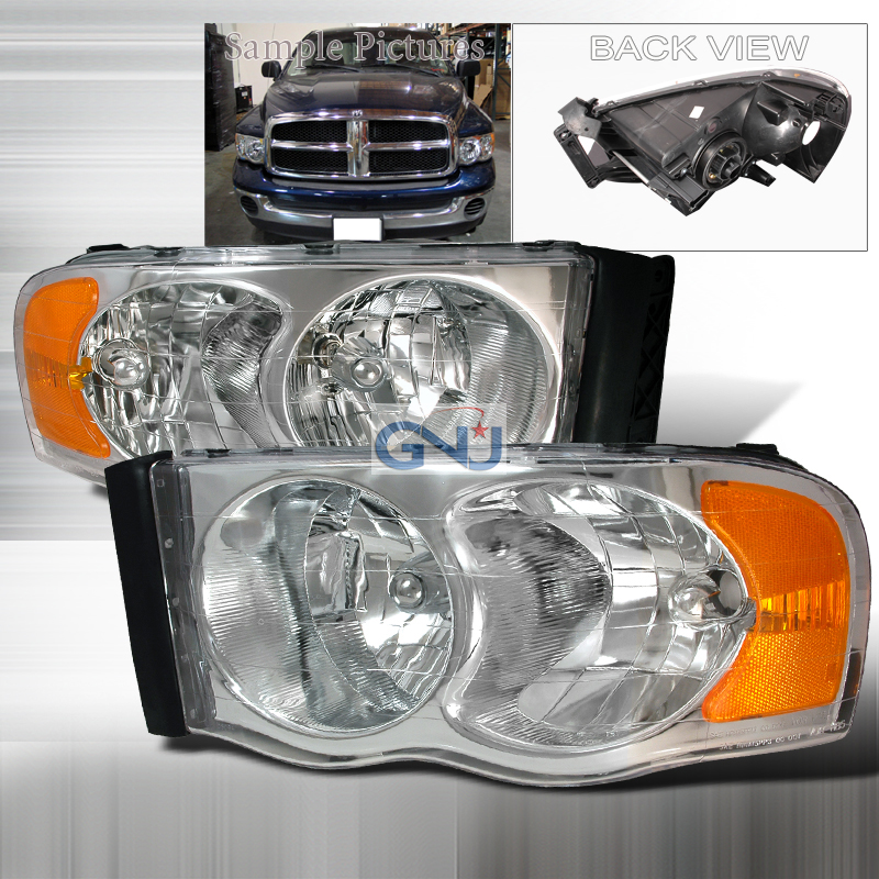 Dodge Ram 2002-2005 Chrome Euro Headlights