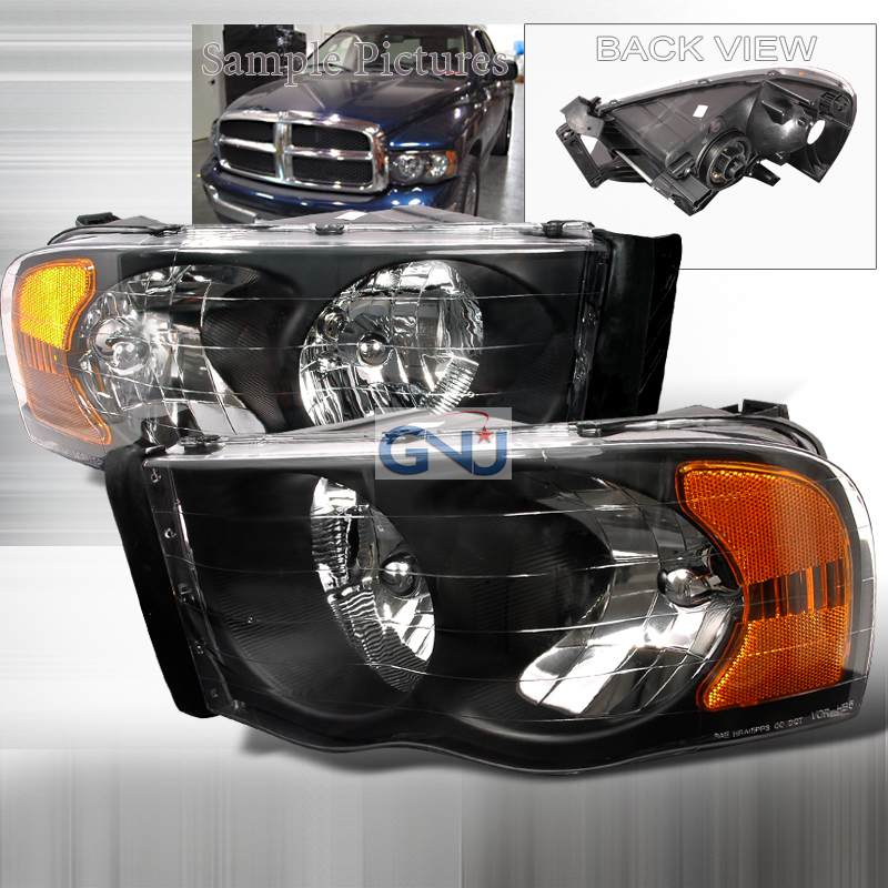 Dodge Ram 2002-2005 Black Euro Headlights