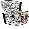 2008 Dodge Ram  Chrome Euro Headlights  