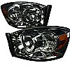 Dodge Ram 2006-2008 Smoke Euro Headlights