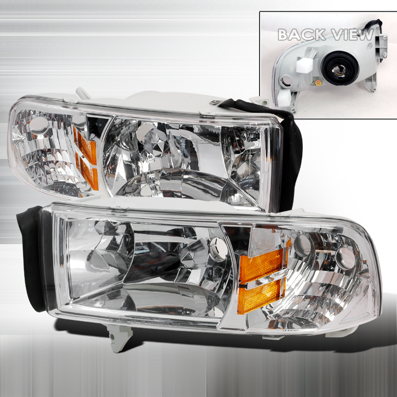 Dodge Ram 1994-2001 Chrome Euro Headlights