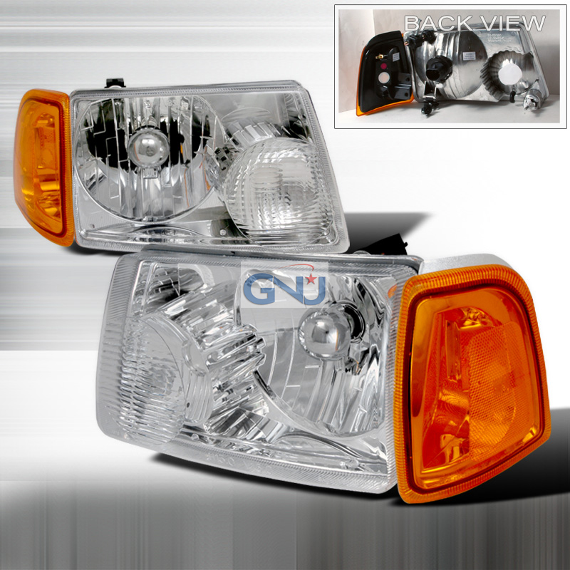 Ford Ranger 2001-2004 Chrome Euro Headlights