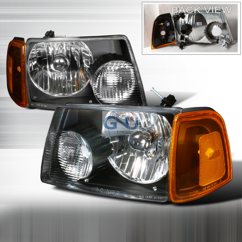 Ford Ranger 2001-2004 Black Euro Headlights