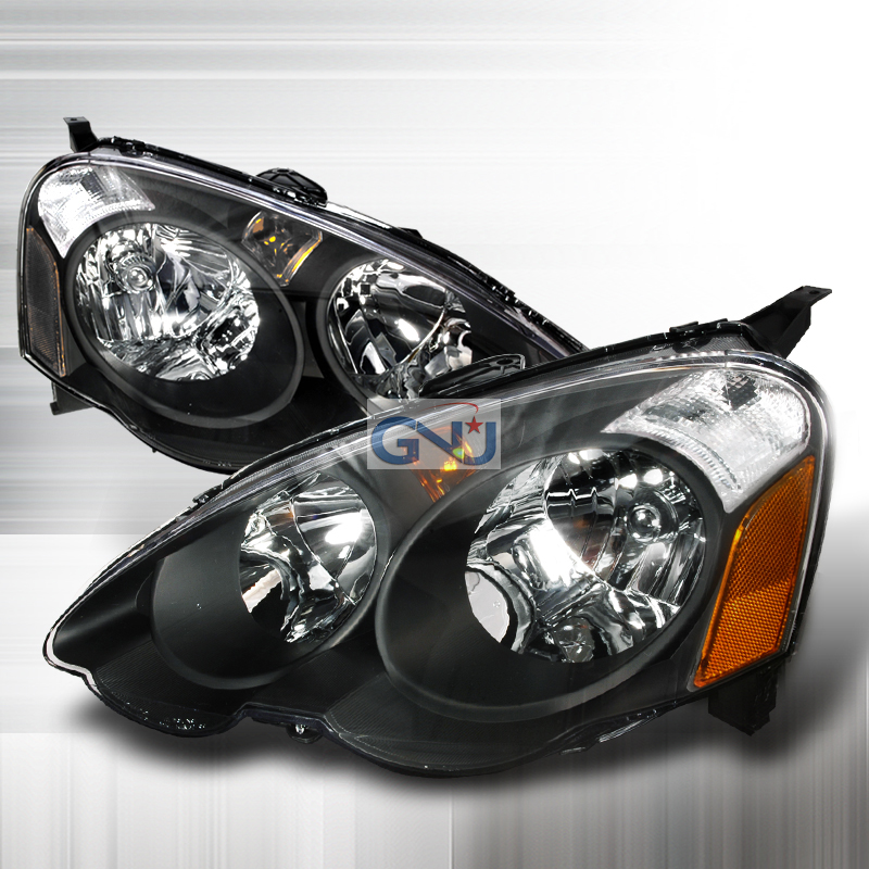 Acura RSX 2002-2005 Black Euro Headlights