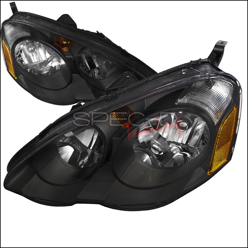 Acura RSX 2002-2004 Black Euro Headlights