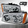 Chevrolet Avalanche 2003-2006 Chrome Euro Headlights