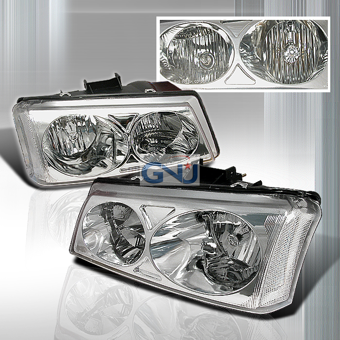 Chevrolet Silverado 2003-2006 Chrome Euro Headlights