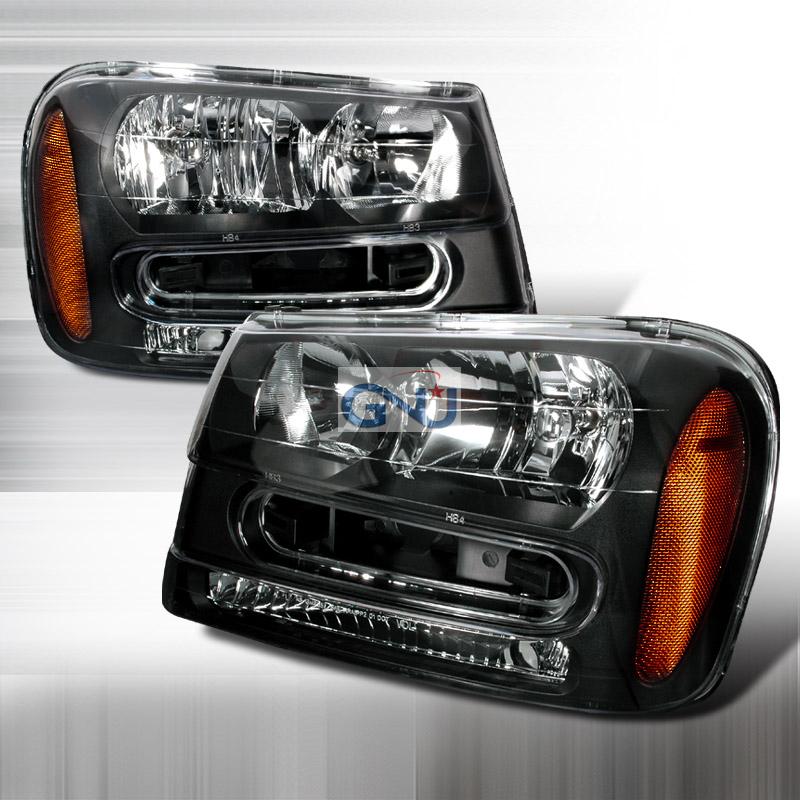 Chevrolet Trailblazer 2002-2005 Black Euro Headlights