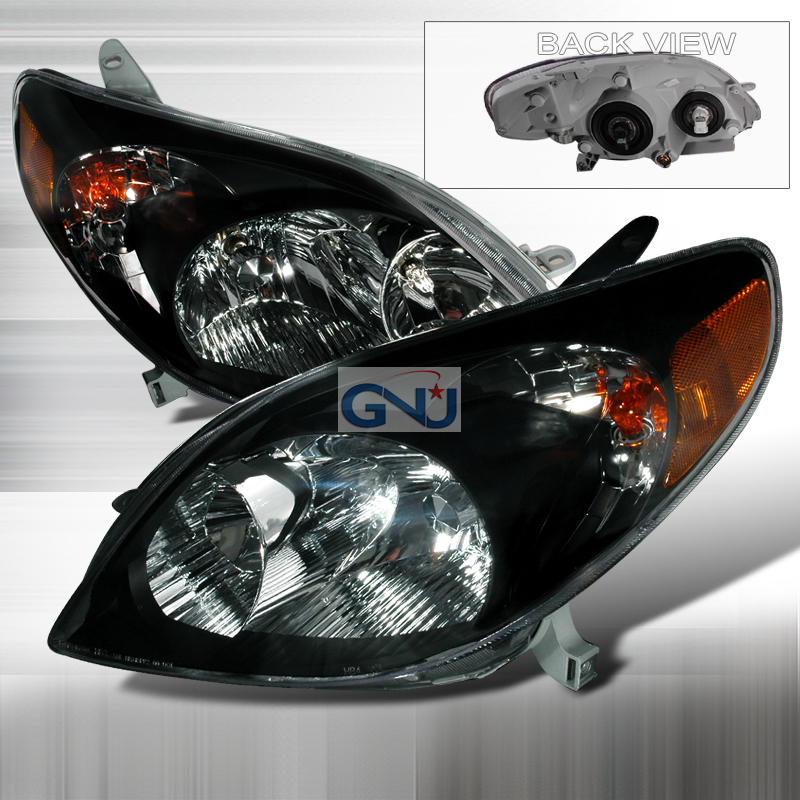 Toyota Matrix 2003-2008 Black Euro Headlights