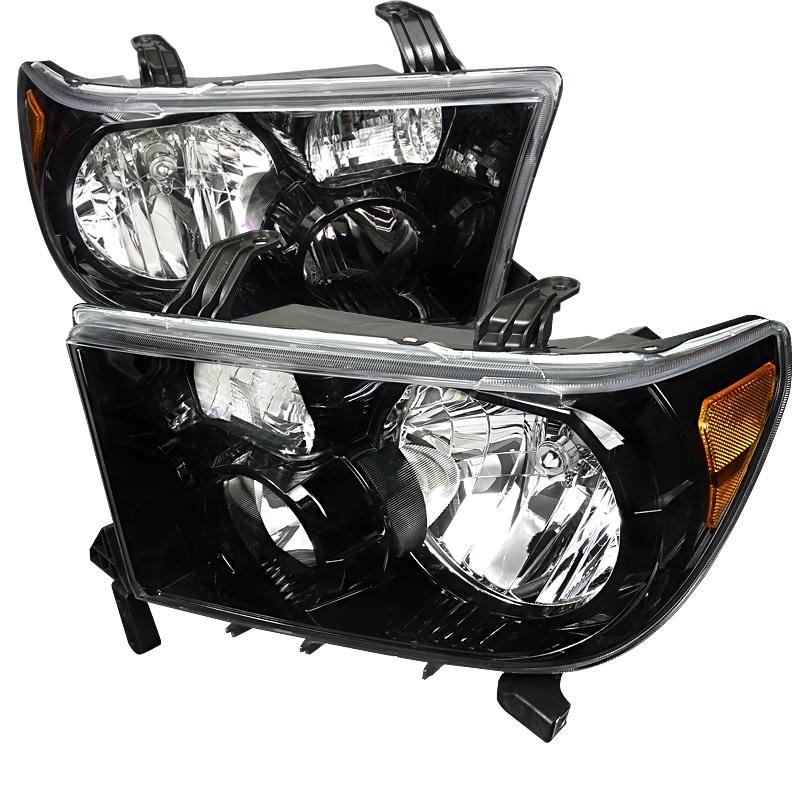 Toyota Tundra 2007-2011 Black Euro Headlights