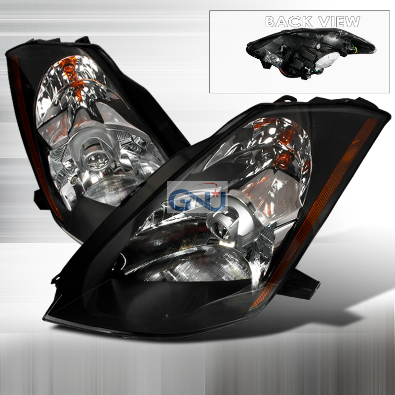Nissan 350Z  2003-2005 Black Halo Projector Headlights