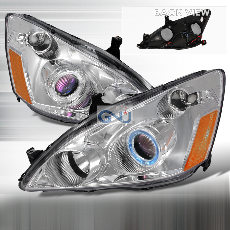 Honda Accord  2003-2007 Chrome Halo Projector Headlights