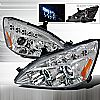 Honda Accord  2003-2007 Chrome Halo Projector Headlights  W/LED'S