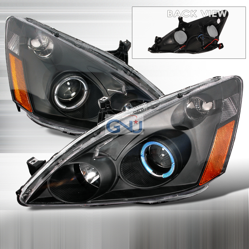 Wonderful Honda Accord 2003 2007 Black Halo Projector Headlights