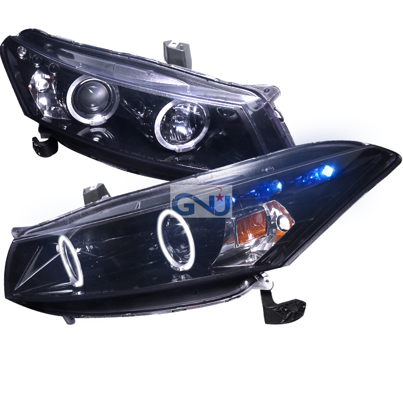 Honda Accord  2008-2012 Gloss Black Halo Projector Headlights