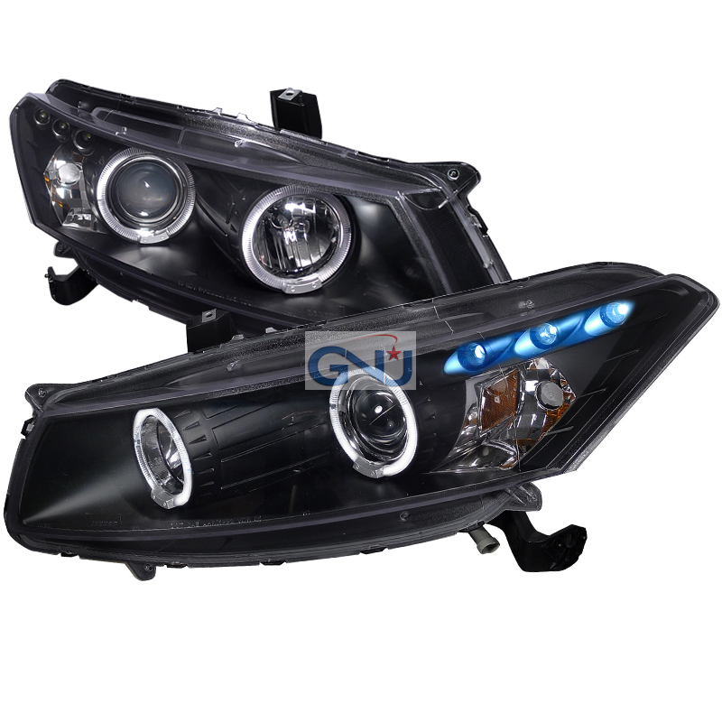 Honda Accord  2008-2012 Black Halo Projector Headlights