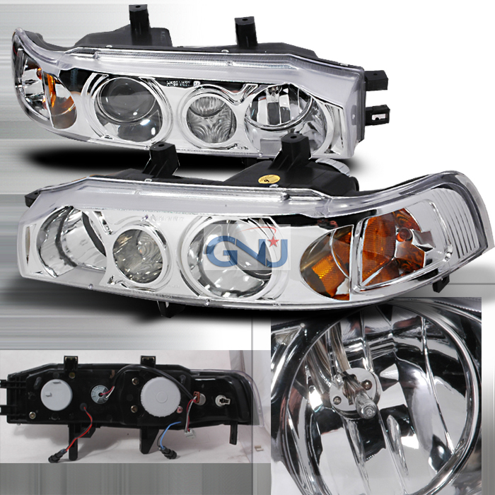 Honda Accord  1990-1993 Chrome Halo Projector Headlights