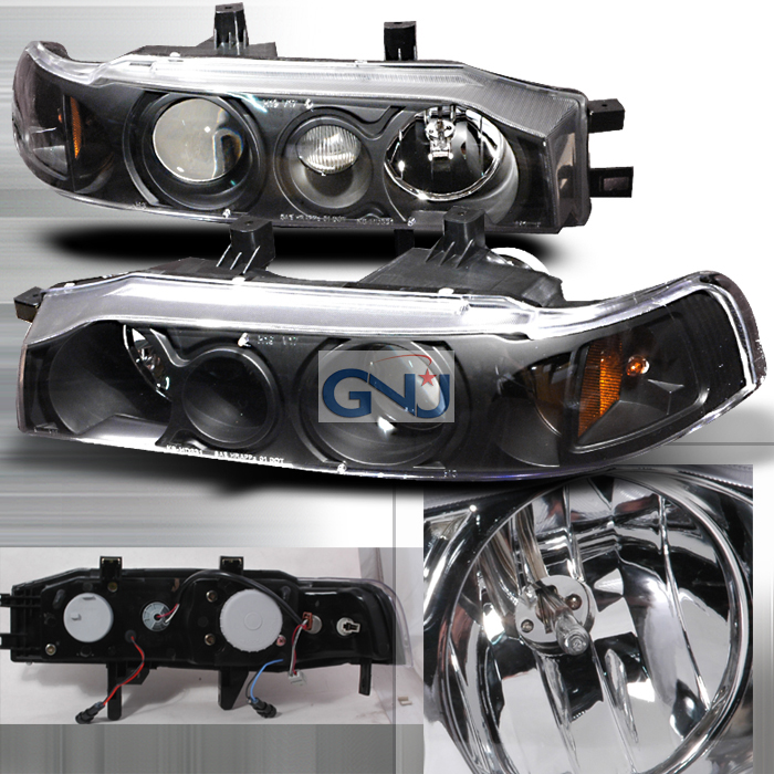 Honda Accord  1990-1993 Black Halo Projector Headlights