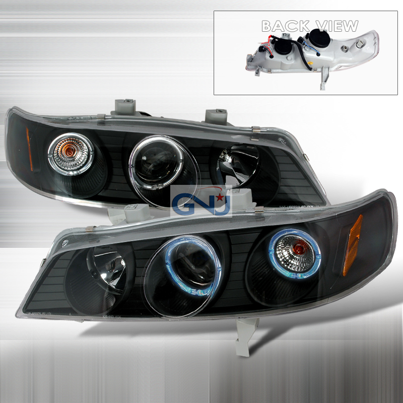Honda Accord  1994-1997 Black Halo Projector Headlights