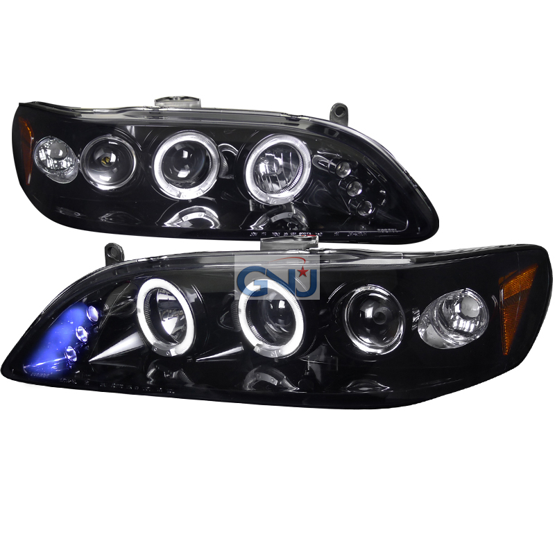 Honda Accord  1998-2002 Gloss Black Halo Projector Headlights