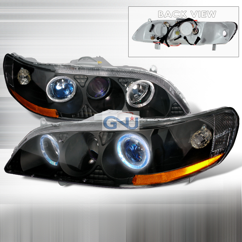Honda Accord  1998-2002 Black Halo Projector Headlights