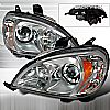 Mercedes Benz ML Class W163 1998-2001 Chrome Halo Projector Headlights