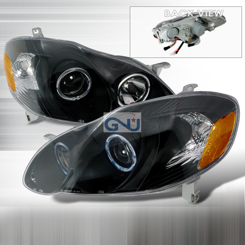 Toyota Corolla  2003-2005 Black Halo Projector Headlights