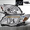 2010 Toyota Corolla   Chrome Halo Projector Headlights